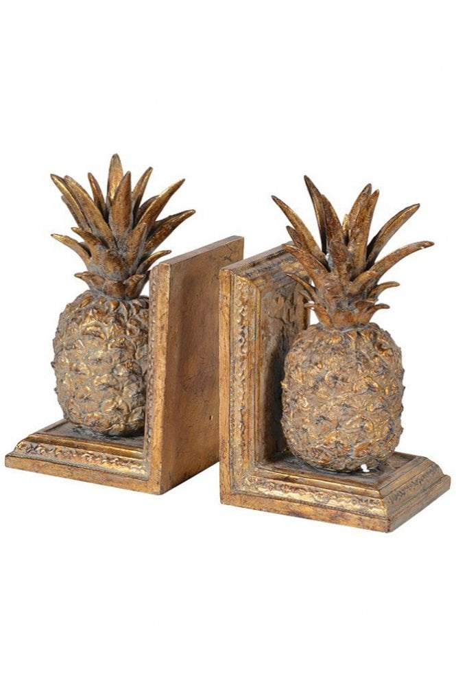 The Home Collection Golden Pineapple Bookends