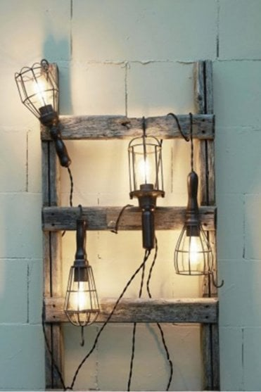 Hanging Cage Lamp in Black Metal
