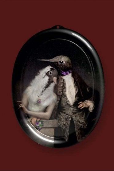Ibride Galerie De Portraits Oval Tray- The Lovebirds