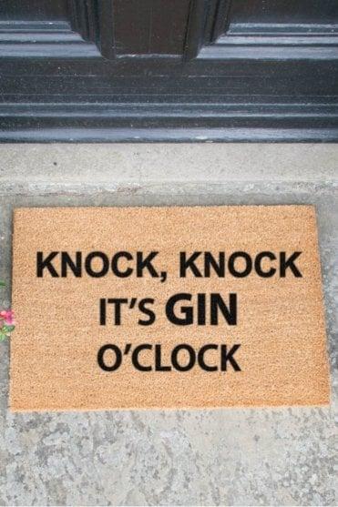 Knock Knock it's Gin O'clock Doormat