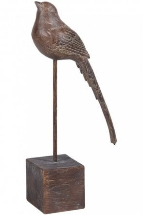 Large Brown Bird On Stand