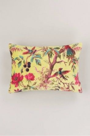 Lime Bird Of Paradise Cushion