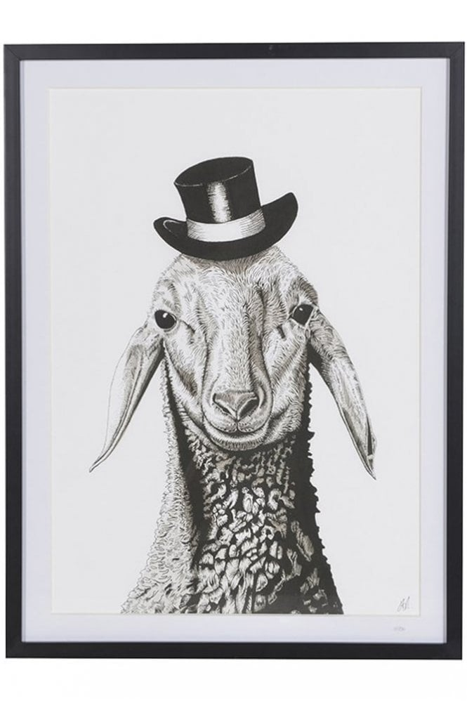 Sue Parkinson Home Collection Limited Edition Sheep In Hat Print