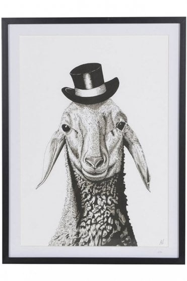 Limited Edition Sheep In Hat Print
