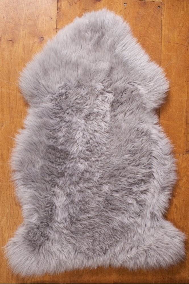 Sue Parkinson Home Collection New Zealand Lamb Skin in Silver Grey