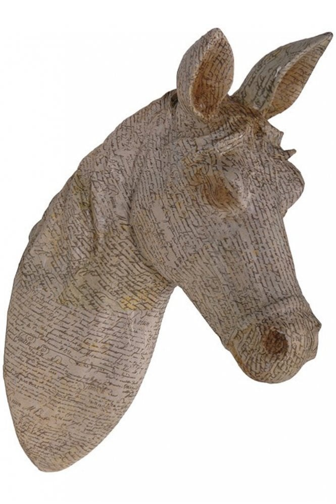 Sue Parkinson Home Collection Newsprint Horse Head