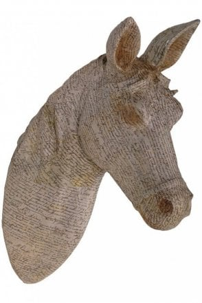 Newsprint Horse Head