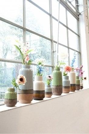 Off White Medium Unique Vase