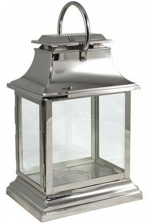 Rectangular Chrome Lantern