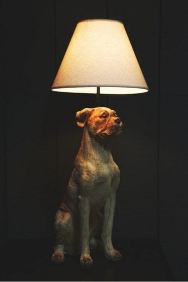Sitting Dog Table Lamp with Shade