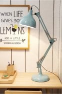 Sue Parkinson Home Collection Sky Blue Traditional Desk Lamp