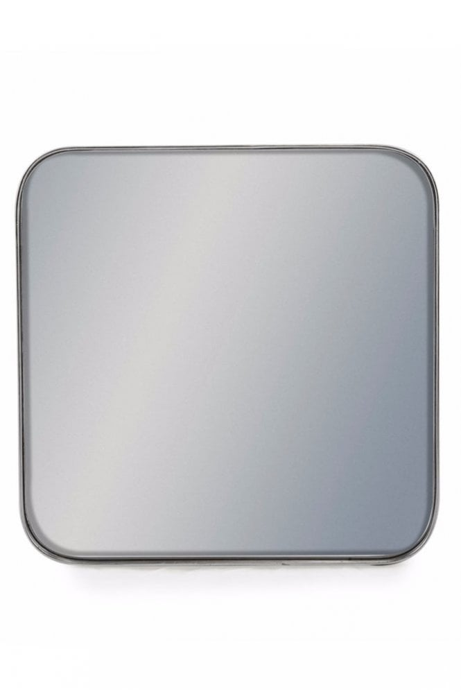 The Home Collection Square Silver Framed Arden Wall Mirror