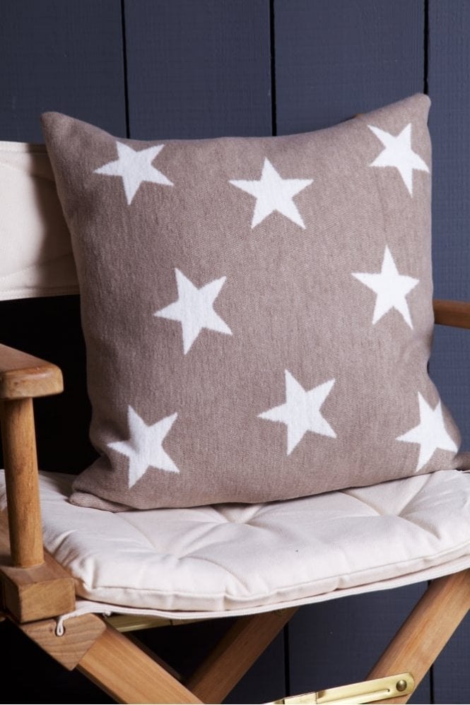The Home Collection Stars Cushion in Beige