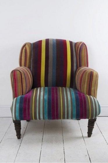 Striped Velvet Armchair