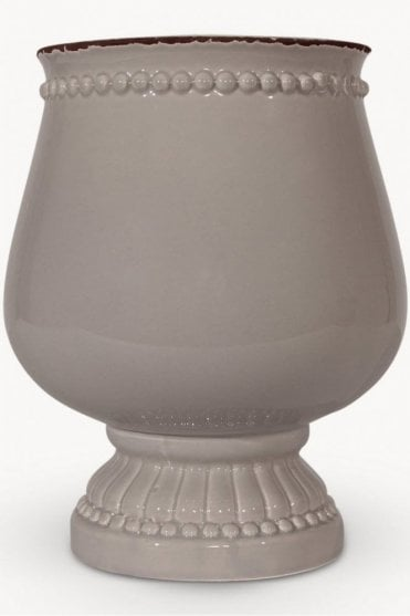 Sudbury Grey Standing Pot in a Smooth Finish