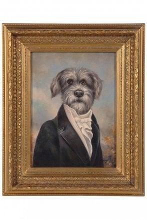Terrier Portrait In Gilt Frame