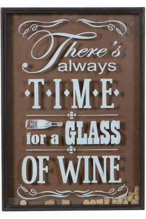 Time For Wine Wall Hanging Sign
