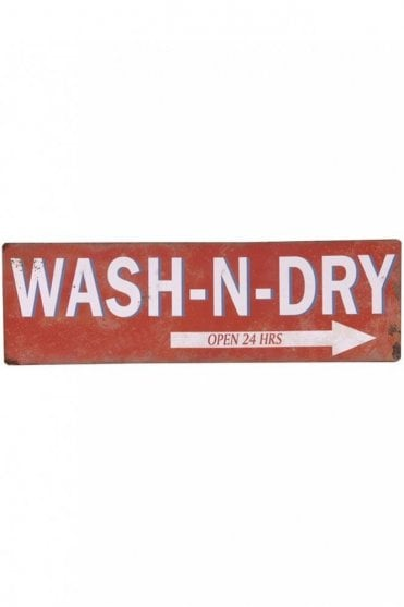 'Wash-N-Dry' Sign