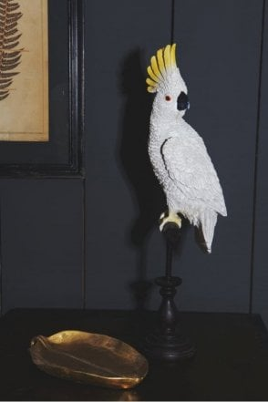 White Cockatoo On Perch Figure