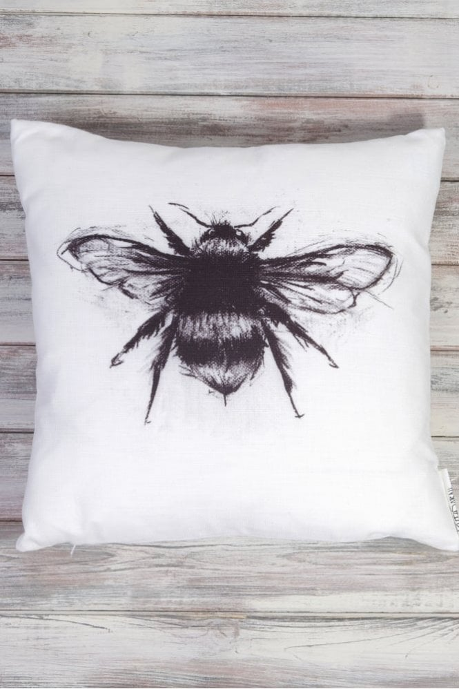 Sue Parkinson Home Collection White Winged Bee Cushion