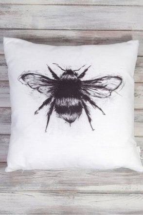 White Winged Bee Cushion