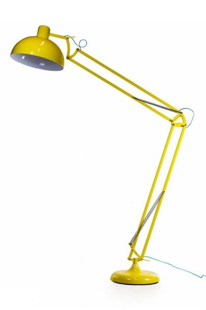 Sue Parkinson Home Collection Yellow XXL Classic Desk Style Floor Lamp