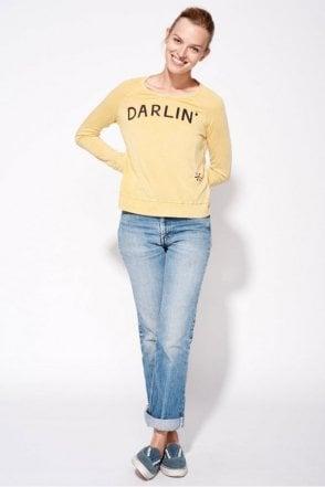 Darlin' Vintage Crop Pullover in Vintage Mustard