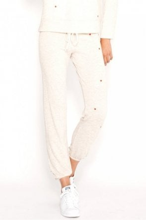 Heathered Terry Heart Patch Sweatpant