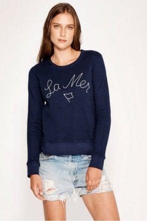 La Mer Double Zip Crew Sweatshirt