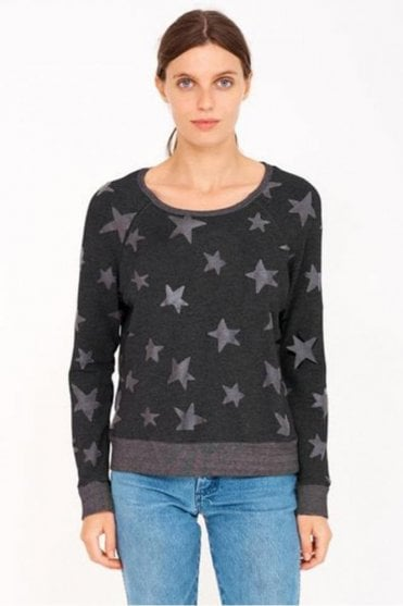 Stars Active Pullover in Soft Black