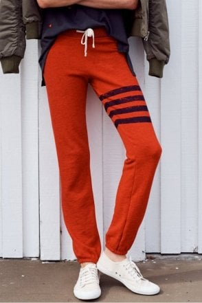 Striped Sweatpant in Paprika