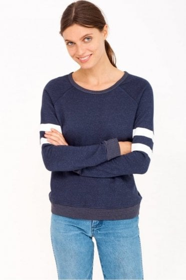 Stripes Sweatshirt in Navy