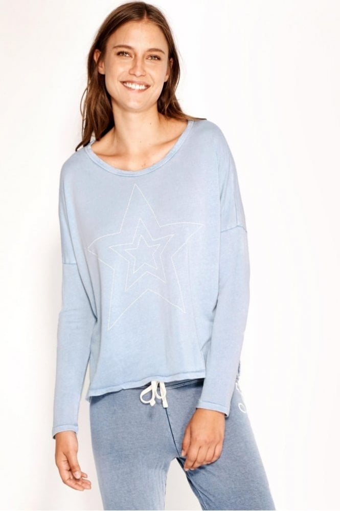 Sundry Studded Star Long Sleeve Sweat
