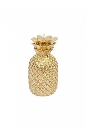 Gold Pineapple Candle Small