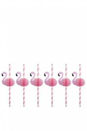Honeycomb Straws Flamingo