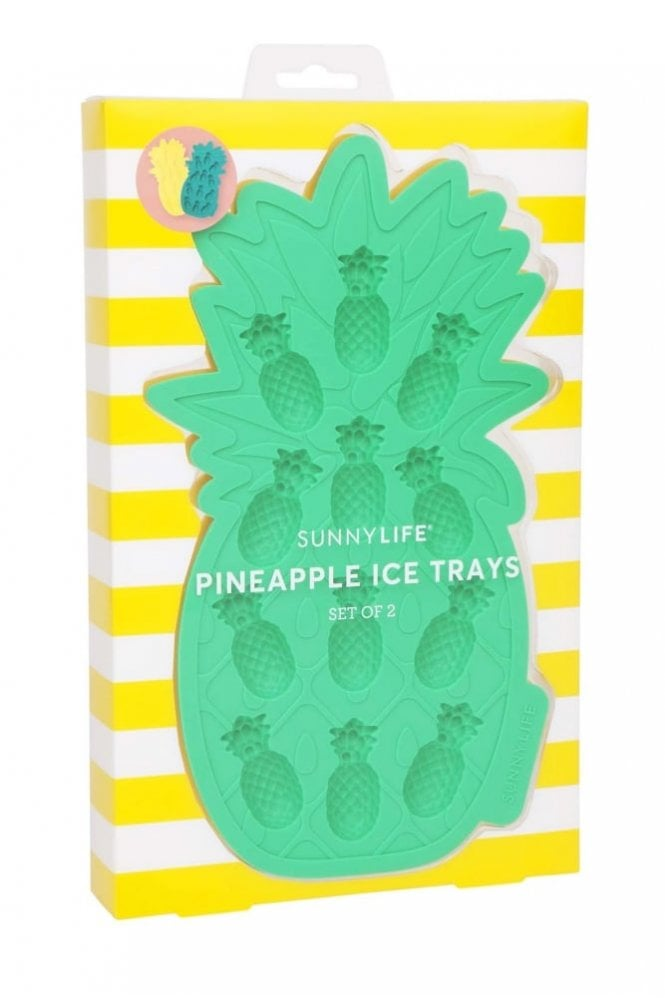 Sunnylife Pineapple Ice Trays Yellow and Green