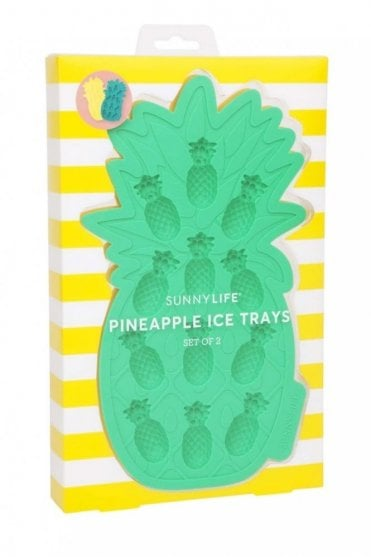 Pineapple Ice Trays Yellow and Green