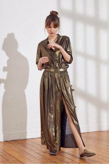 Sage Dress in Gold