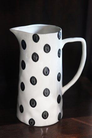 Black and White Polka Dotty Jug