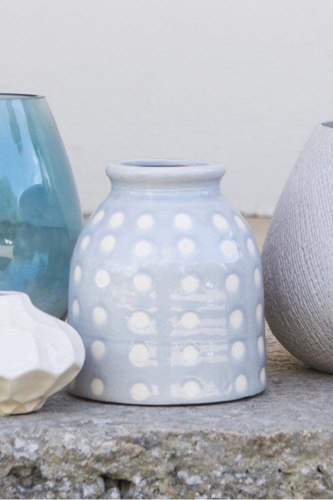 The Home Collection Erada Ceramic Vase in Blue