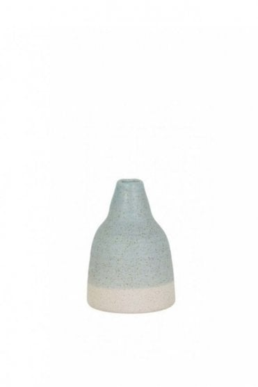Lomez Matted Deco Vase in Light Blue and White