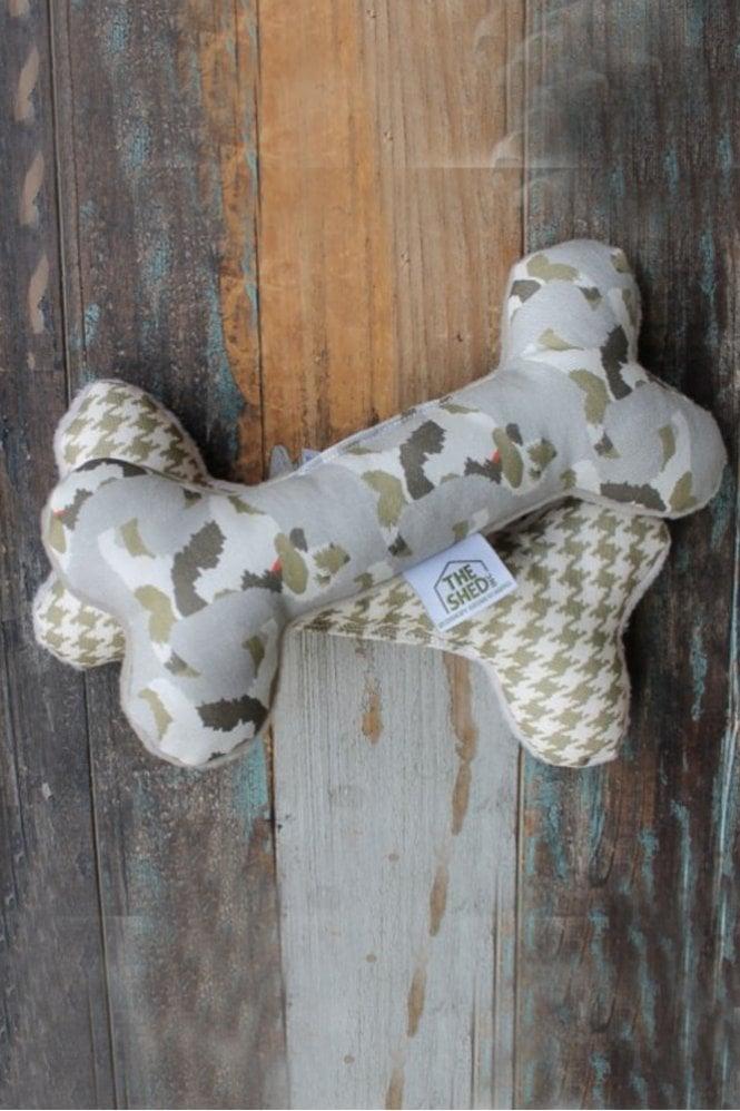The Shed Inc Herbie Hound Camo Dog bone Toy