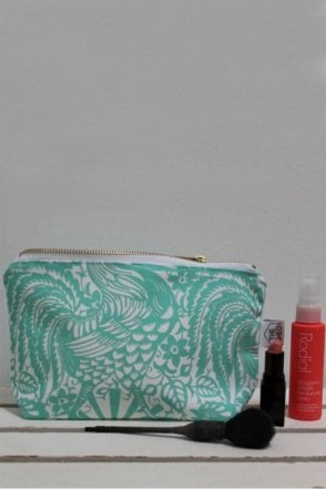 Jade Cockerel Cotton Makeup Bag
