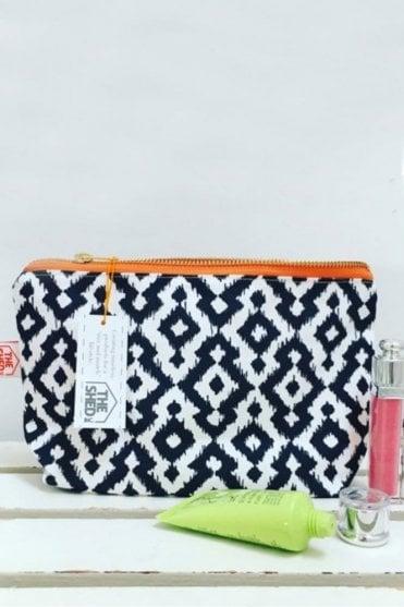 Mono Aztec Cotton Makeup Bag