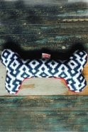 The Shed Inc Mono Aztec Dog Bone Toy