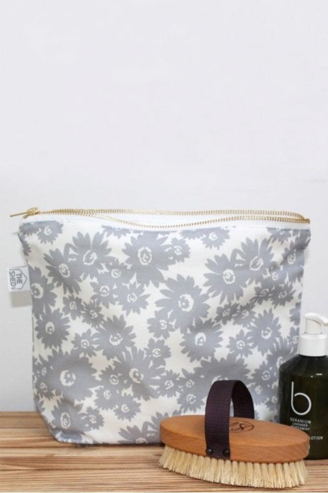 The Shed Inc Slate Daisy Design Wash Bag