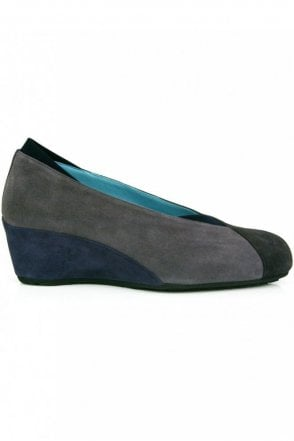 3 Colour Suede Wedge