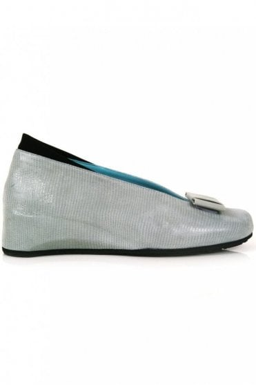 High Side Leather Wedge