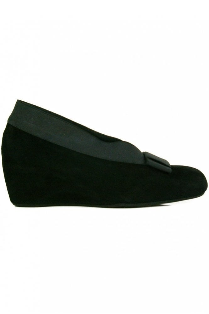 Thierry Rabotin High Side Suede Wedge With Bow