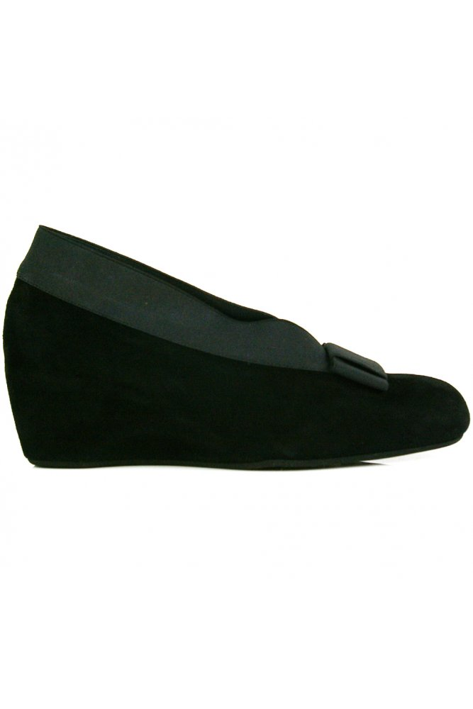 thierry rabotin high side suede wedge with bow sue